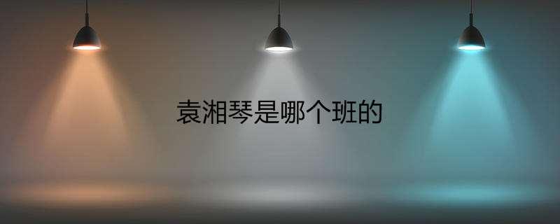 袁湘琴是哪个班的