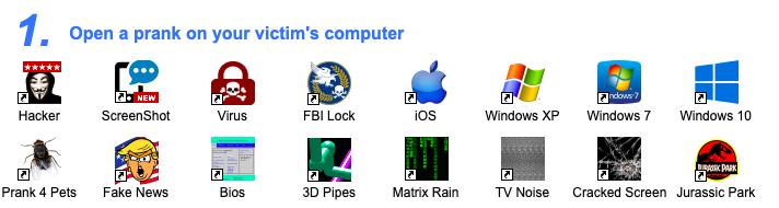 在线模拟各种系统升级、黑客代码,假装系列工具