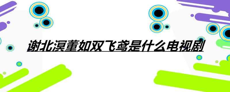 谢北溟董如双飞鸢是什么电视剧