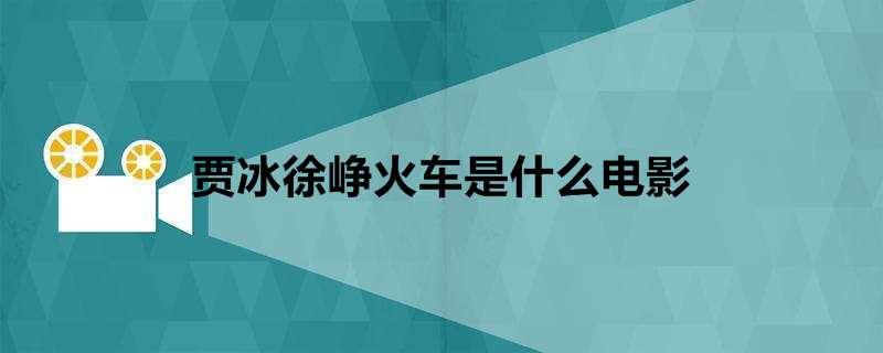 贾冰徐峥火车是什么电影