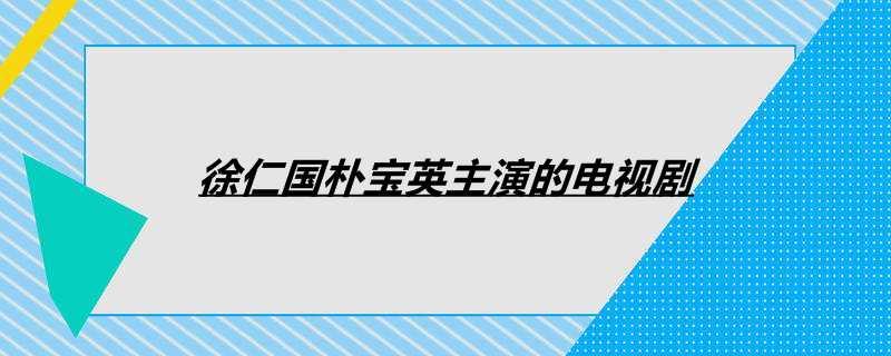 徐仁国朴宝英主演的电视剧