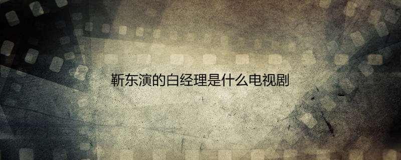 靳东演的白经理是什么电视剧