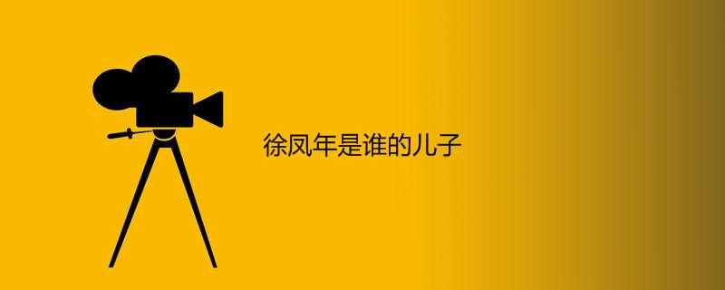 徐凤年是谁的儿子