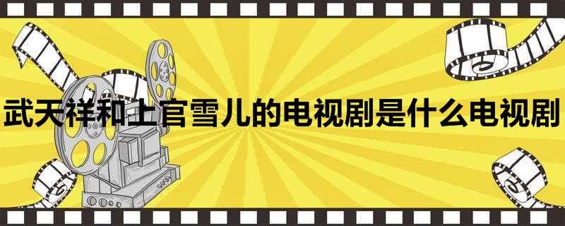武天祥和上官雪儿的电视剧是什么电视剧