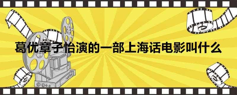 葛优章子怡演的一部上海话电影叫什么