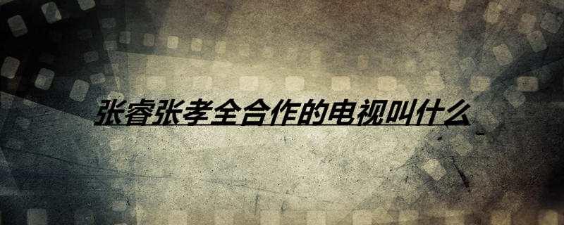 张睿张孝全合作的电视叫什么