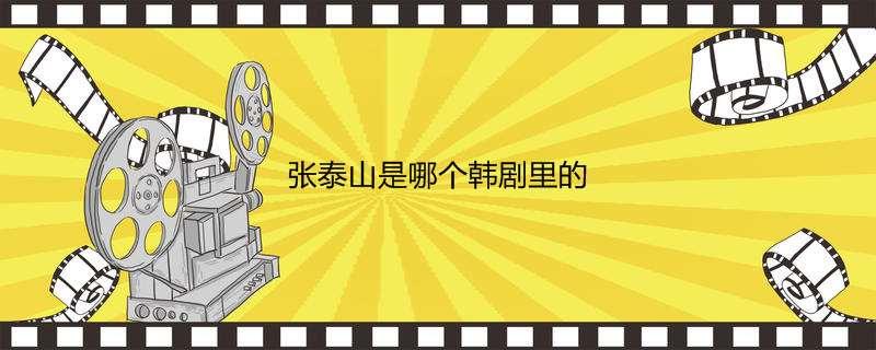 张泰山是哪个韩剧里的