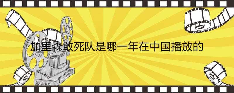 加里森敢死队是哪一年在中国播放的