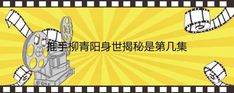推手柳青阳身世揭秘是第几集