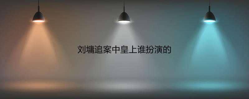 刘墉追案中皇上谁扮演的